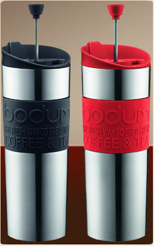 Bodum K11057 Double-Wall Stainless Steel Travel Coffee and Tea Press