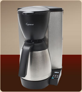 Capresso 485.05 MT600 Plus 10-Cup Coffee Maker with Thermal Carafe