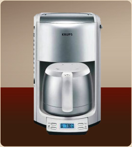 Krups FMF5 10 Cup Programmable Coffee Maker with Thermal Carafe The