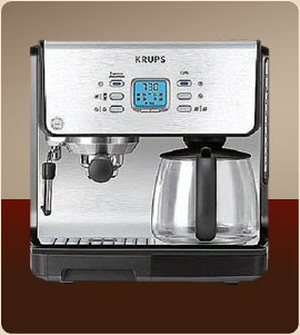 Krups XP2070 Programmable 10-Cup coffee maker 15-Bar Pump Espresso Machine