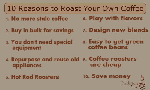 10 Great Reasons to Roast Your Own Coffee at Home